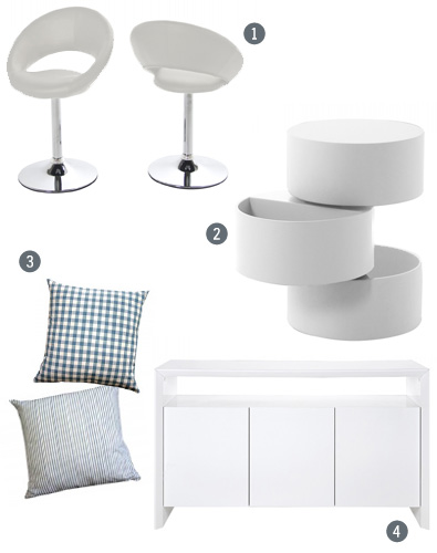 FADS white Scandinavian inspired furniture