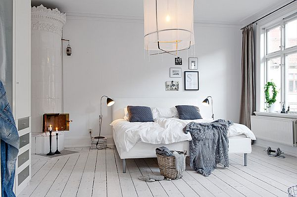Amazing Scandinavian Interior With Blue Grey Textiles
