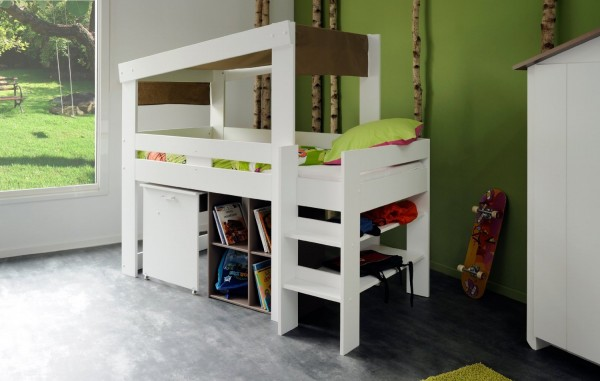 Kids Mid Sleeper With Storage