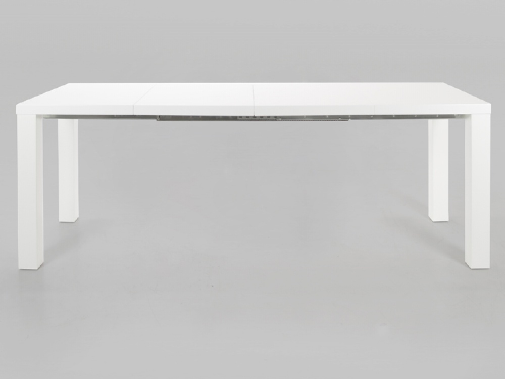 Frances White High Gloss Extending Dining Table