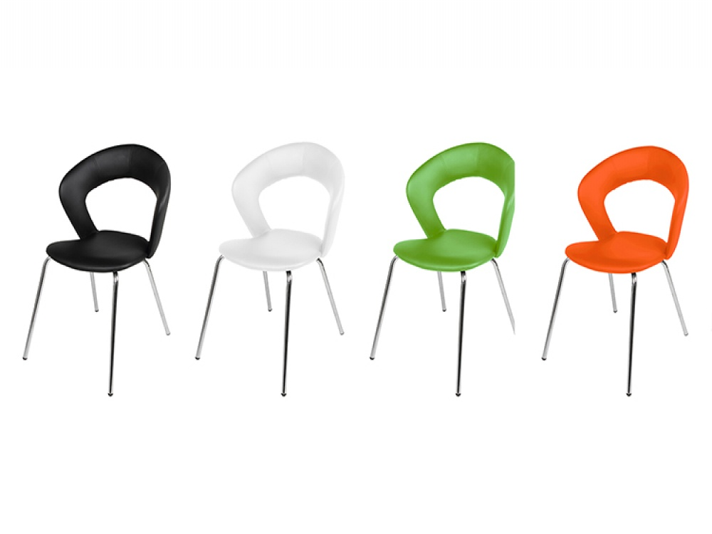 Edna Set of 4 Multi Coloured Faux Leather Dining Chairs