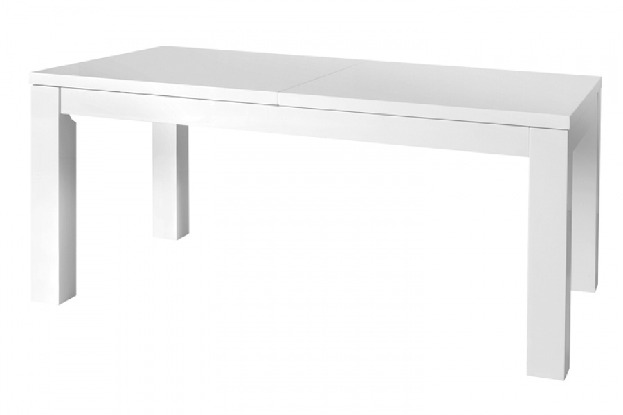 Galaxy White High Gloss Extending Dining Table