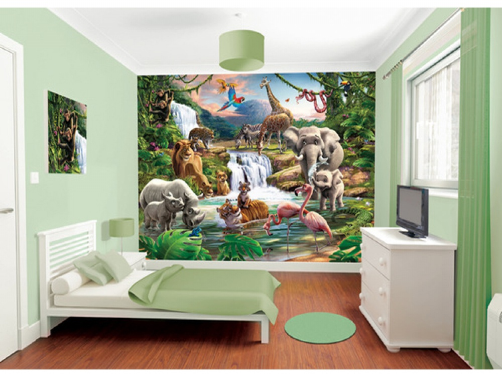 Jungle themed bedroom ideas that kids will love fads for Forest themed bedroom ideas