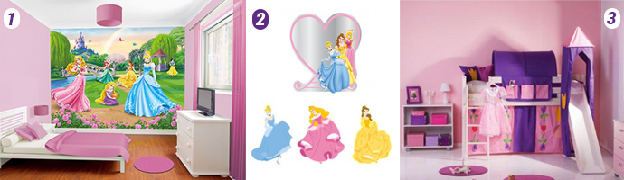 Disney Princess room accessories