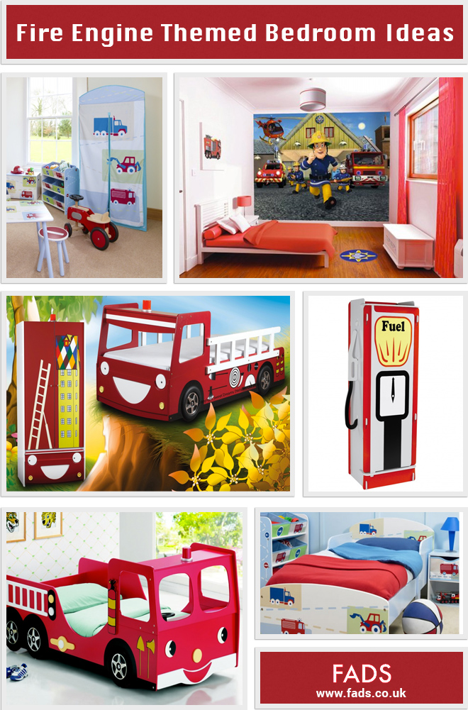 Fire engine themed bedroom ideas for kids fads blogfads for Fire truck bedroom ideas