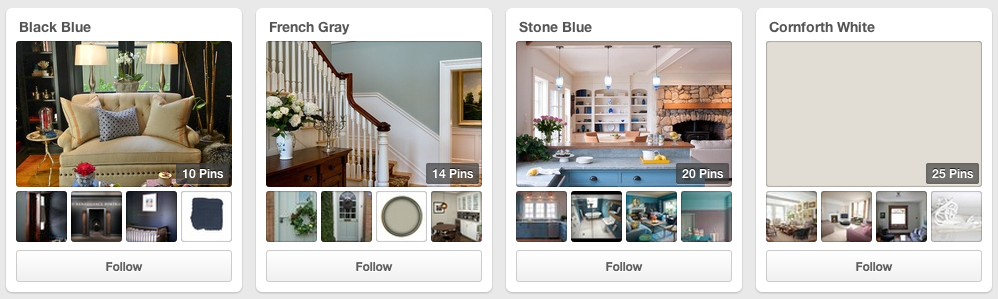 Farrow & Ball on Pinteret