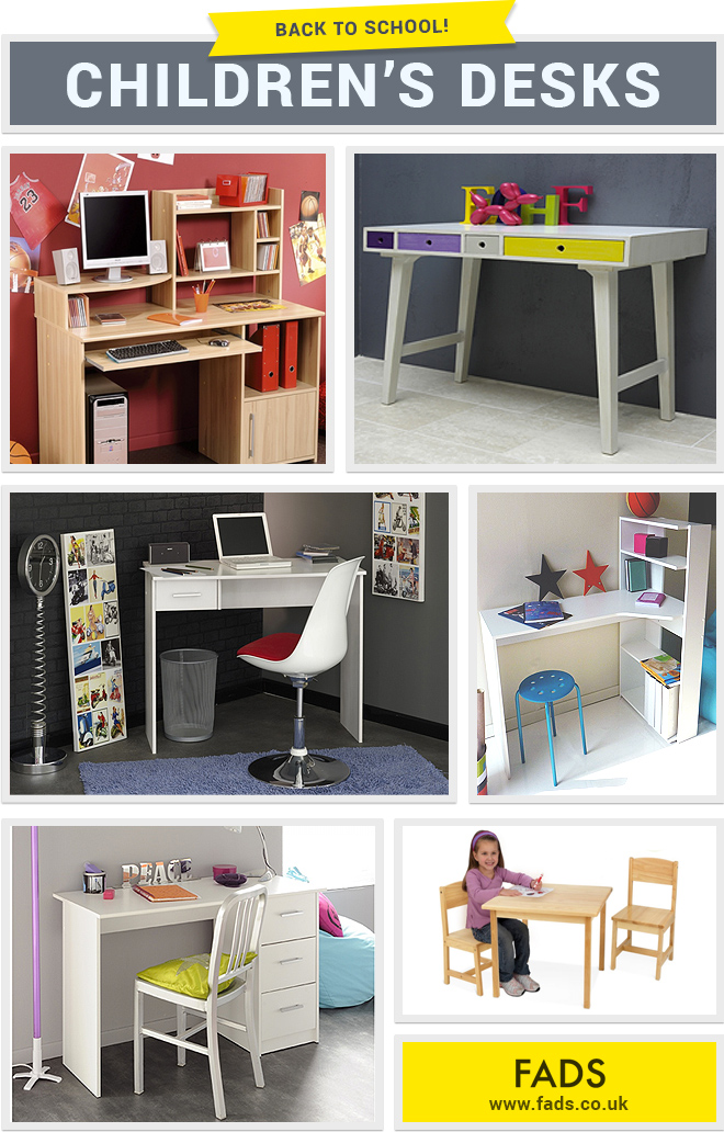 Back to school: kids desks for homework!