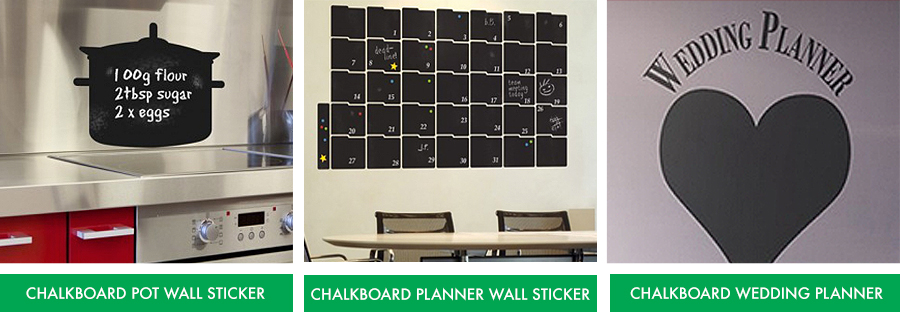 Chalkboard Wall Stickers from Fads.co.uk