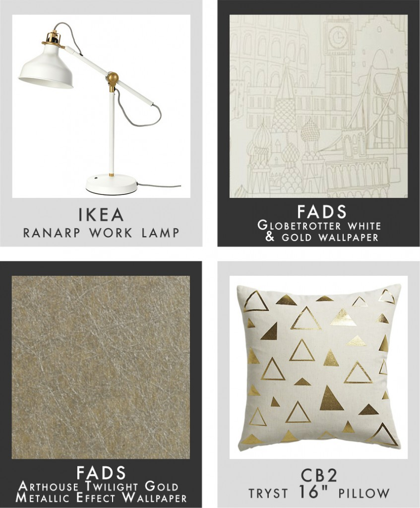 gold home accessories via FADS.co.uk