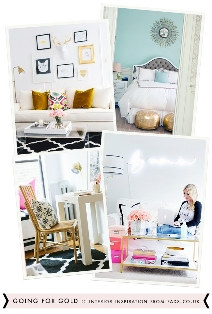 GOING FOR GOLD :: Fads.com | StyleMePretty.com | TheEveryGirl.com | FunBedroomIdeas.com