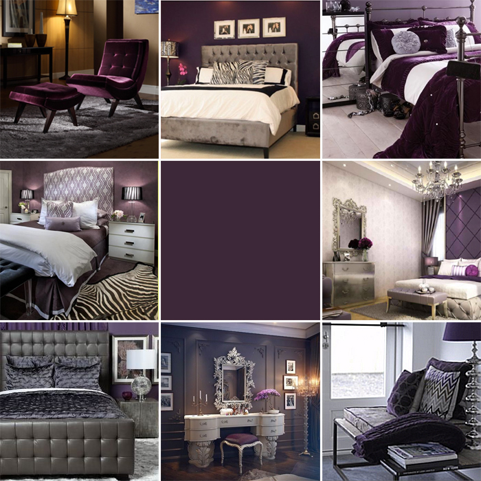 aubergine bedroom inspiration