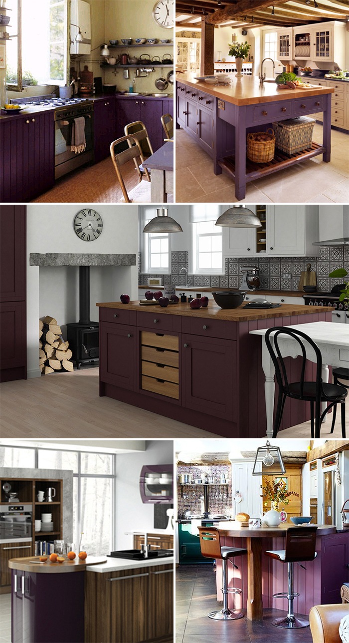 aubergine purple kitchen