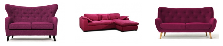 aubergine purple sofas