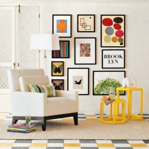 Using bold colour with a neutral palette in the home