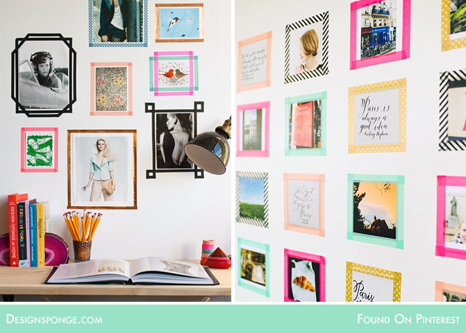 washi tape art frame
