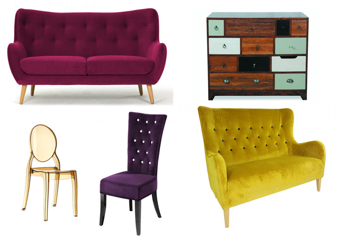 Fads furniture selection: colourful furniture