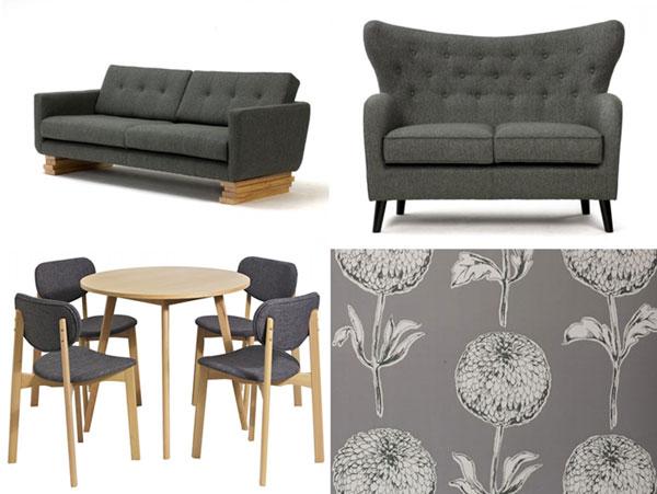 Slate grey furnishings from FADS.