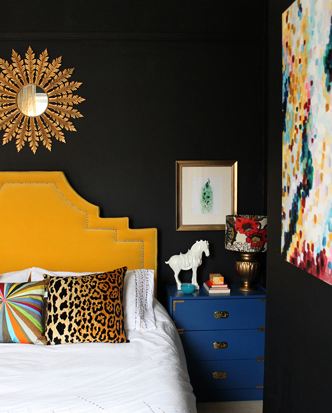 Bedroom and headboard shot. Swoon Worthy.