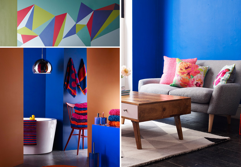 Wonder walls: using colour on your walls. Credits: oliverbonas.com, bhs.co.uk, crownpaints.co.uk