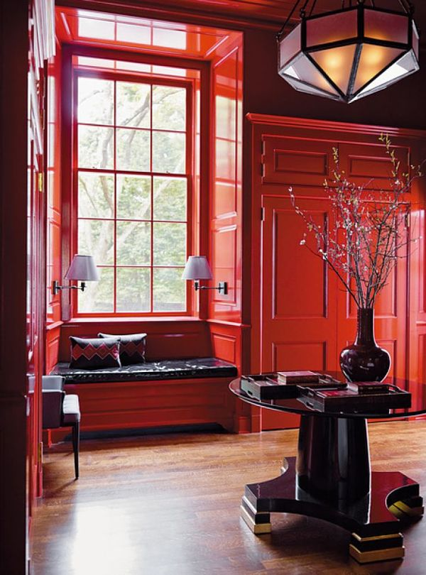 dramatic red walls