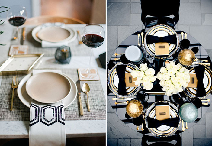 fads-christmas-tablescapes-contemporary & 3 Holiday Ideas to Set a Stylish Christmas table - FADS BlogFADS Blog
