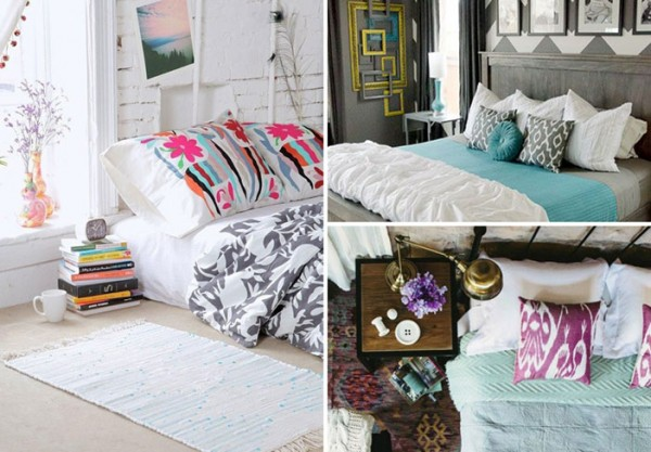 Bedroom inspiration. Images sourced from Pinterest. Credits: makelyhome.com, breakfastwithaudrey.tumblr.com and decoholic.com.