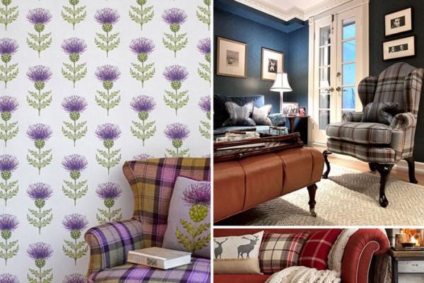 Tartan interior inspiration. Images sourced from Pinterest. Credits: hgtv.com, voyagedecoration.com and housetohome.co.uk