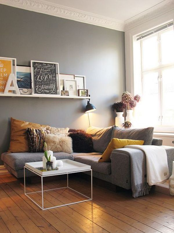 living room grey and yellow
