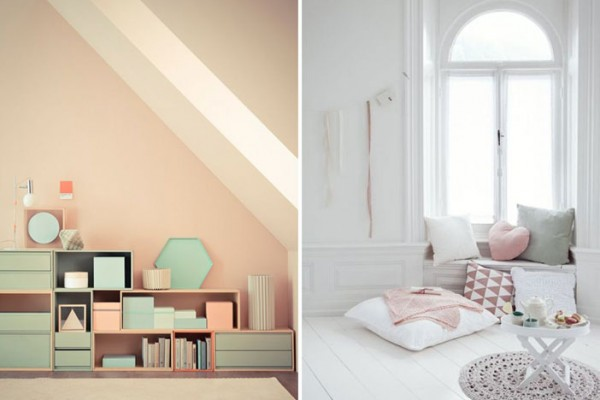 Winter pastels inspiration. Both images sourced on Pinterest. Credits: expensivelife.tumblr.com and raneytown.com
