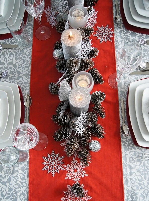 Silver Table Decor
