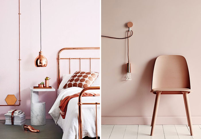dulux 39 s colour of the year is copper how to make it work. Black Bedroom Furniture Sets. Home Design Ideas