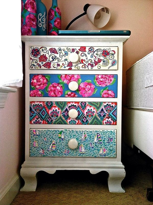 hand-painted drawers