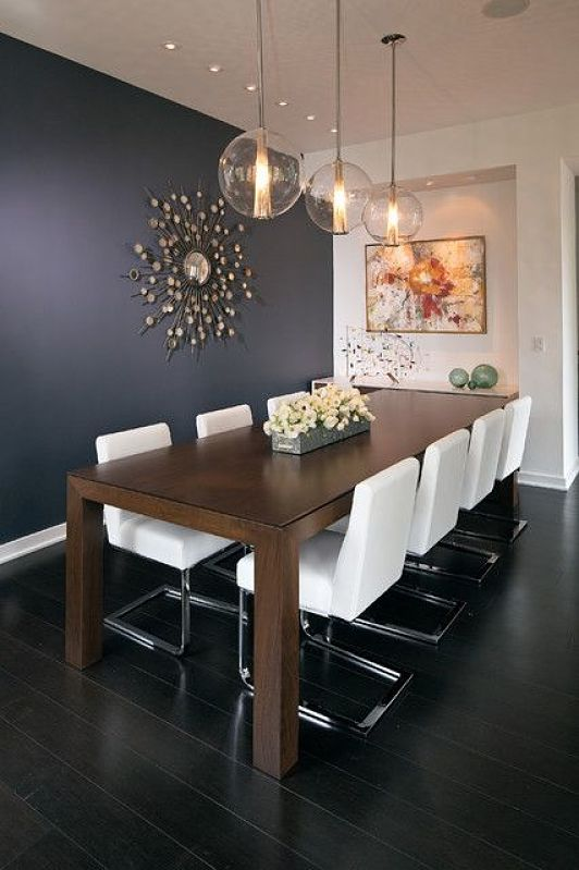 feature wall dining