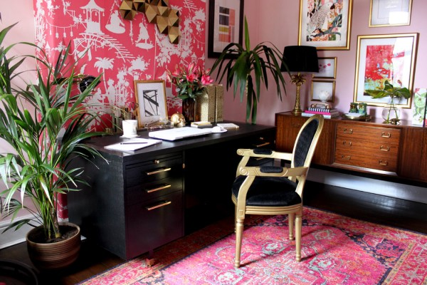 how to make pink look chic in your home