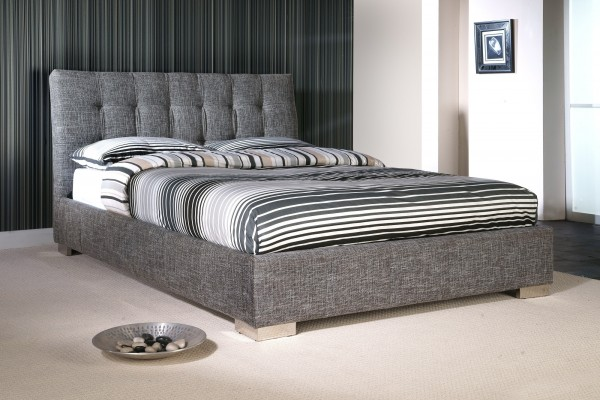 Ophelia Grey Fabric Bed