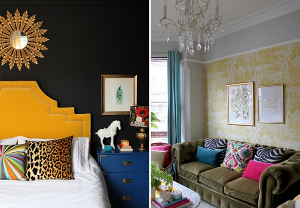 Achive a glamorous boho look in your home.