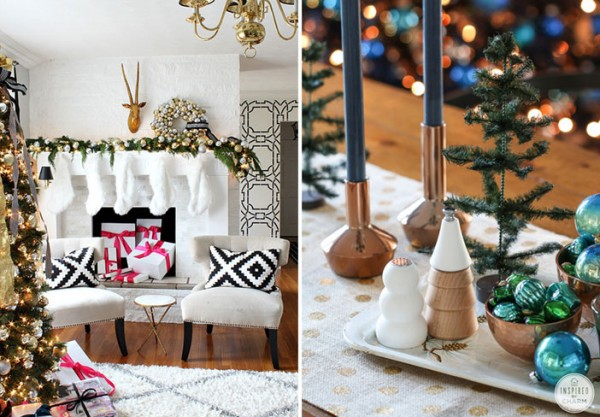 how to get a glamorous christmas look in your home